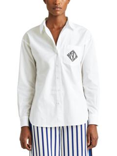 Logo Cotton Broadcloth Shirt Ralph Lauren