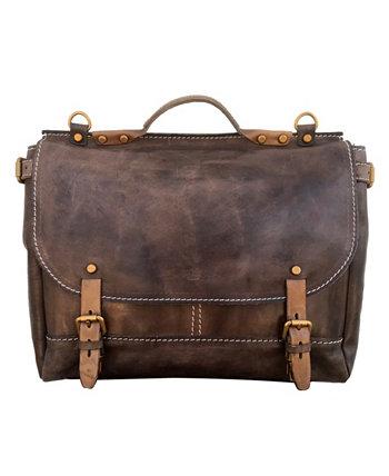 Кожаная сумка почтальона песчаной бури Old Trend