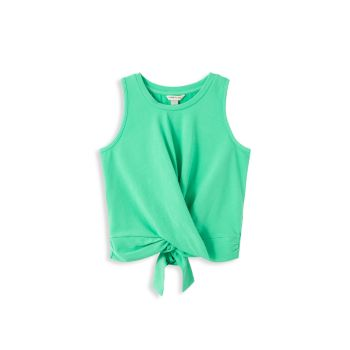 Girl's Wrap Tie Back Knit Top