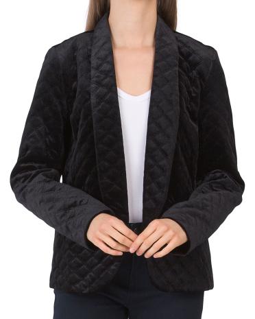Стеганый бархатный пиджак Made In Usa Willow & Clay