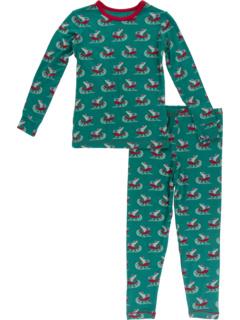 Пижамный комплект с длинными рукавами (для малышей / маленьких детей / детей старшего возраста) Kickee Pants Kids