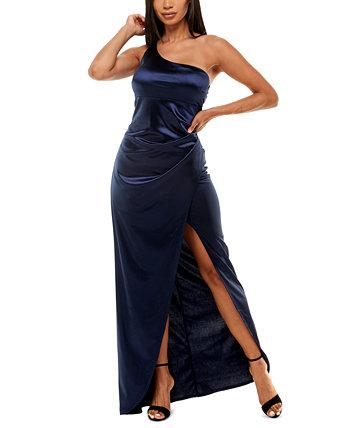 Атласное платье на одно плечо для юниоров Emerald Sundae