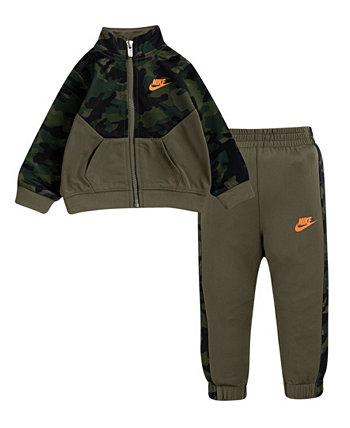 Светло-серый камуфляж для маленьких мальчиков Nike