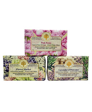 Soap Mixed Spring Fragrance Set, 3 Piece Wavertree & London