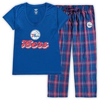 Women's Concepts Sport Royal/Red Philadelphia 76ers Plus Size Ethos T-Shirt & Pants Sleep Set Unbranded