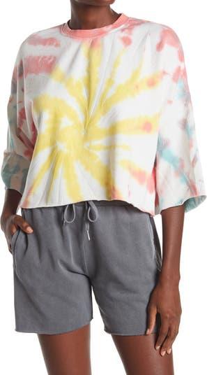Укороченная рубашка для сна с принтом Tie Dye The Laundry Room