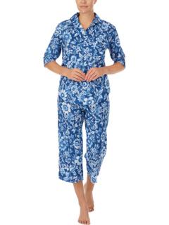 3/4 Sleeve Woven His Shirt Capris PJ Set Ralph Lauren