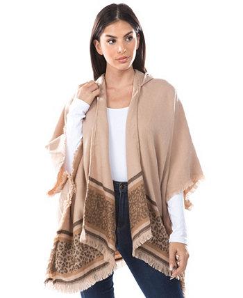 Женская леопардовая куртка с капюшоном Ruana Marcus Adler