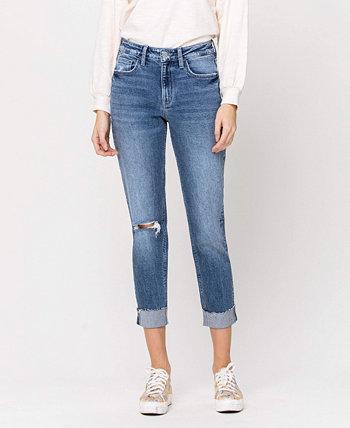 Женский стрейч-кроп-бойфренд с джинсами с одинарными манжетами FLYING MONKEY