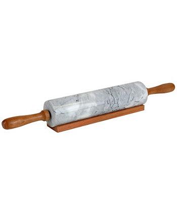 Скалка HDS Trading Marble с удобными ручками и подставкой для дисплея HOME BASICS