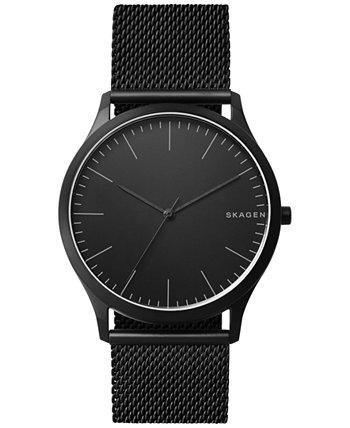 Мужские Jorn Черные часы из нержавеющей стали с браслетом 41мм Skagen