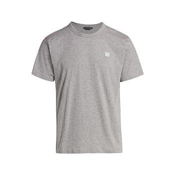 Хлопковая футболка с круглым вырезом Nash Face Acne Studios