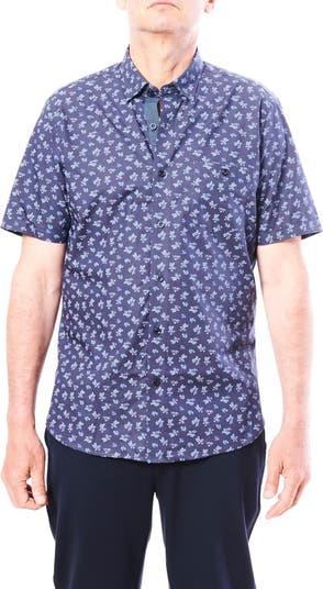 Мини-спортивная рубашка с короткими рукавами и цветочным принтом Toscano