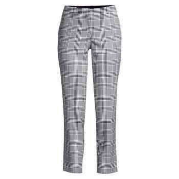 Зауженные эластичные брюки Tiluna Glen в клетку до щиколотки BOSS
