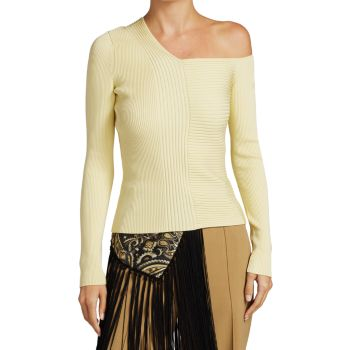 Асимметричный свитер в рубчик Charlie Jonathan Simkhai