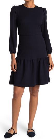 Jewel Neck Drop Waist Dress Maggy London