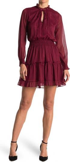 Платье Emma с цветочным принтом и оборками NSR