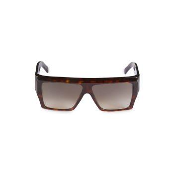 Квадратные солнцезащитные очки с плоским верхом 52 мм CELINE
