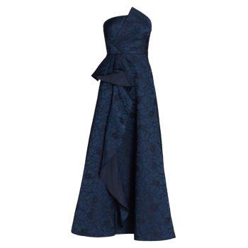 Бальное платье из жаккарда с цветочным рисунком ML Monique Lhuillier