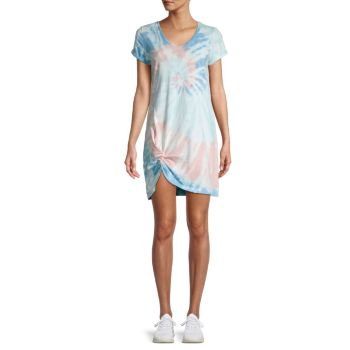 Tie-Dye Knotted T-Shirt Dress Lea & Viola
