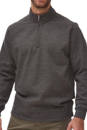 Текстурированный трикотажный пуловер на молнии четверти Rainforest