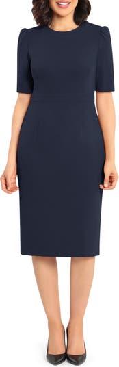 Elbow Sleeve Sheath Dress Donna Morgan