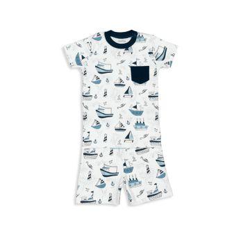 Короткий пижамный комплект из двух частей лодочка для маленьких мальчиков Baby Noomie