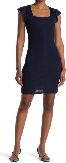 Платье с квадратным вырезом и короткими рукавами 19 Cooper