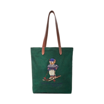 Размер сумки-шоппера из твила Polo Bear Ralph Lauren