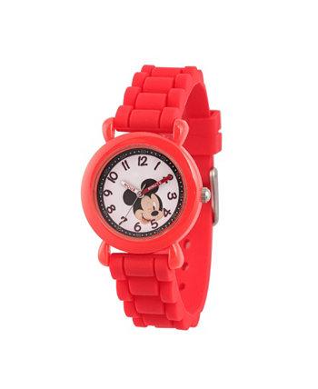 Дисней Микки Маус с красными пластиковыми часами для учителя Ewatchfactory