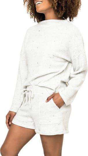 Looks Like Flurries Luxe Ribbed Pullover Gibsonlook