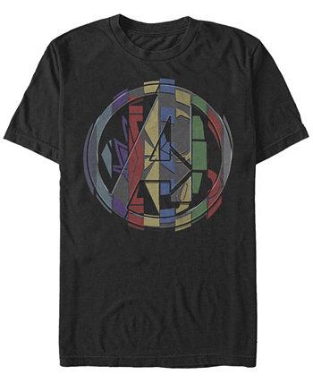 Мужская футболка с логотипом Endgame Badge, футболка с коротким рукавом Marvel