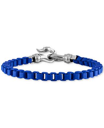 Браслет-цепочка из черной эмали и нержавеющей стали (также с красной и синей эмалью), созданный для Macy's Esquire Men's Jewelry