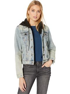 Джинсовая куртка с капюшоном в стиле casual Blank NYC