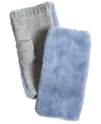 Женские перчатки без пальцев из искусственного меха Echo 23