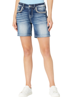 Mid-Rise Shorts in Medium Blue Miss Me