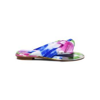 Кожаные босоножки с ремешками Clarita Bow Tie-Dye Alexandre Birman