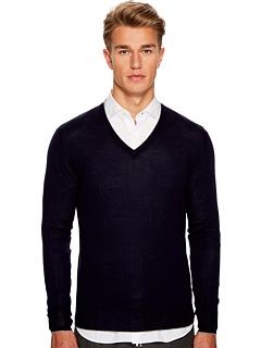 Тонкий свитер с V-образным вырезом Eleventy