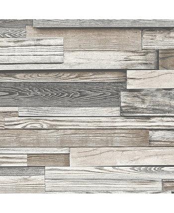 "Обои Shiplap Wood Peel and Stick, 216 ""x 20,5"" Transform"