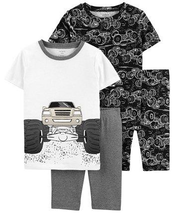 Пижамы свободного кроя Little Boys Trucks, 4 шт. Carters