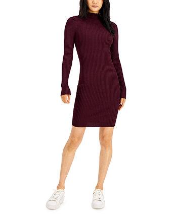 Юниорское платье-свитер в рубчик с воротником-стойкой Hooked Up by IOT