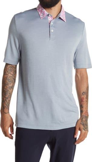 Трикотажная рубашка-поло с принтом на воротнике Thomas Dean