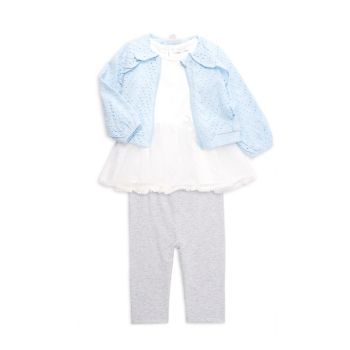 Куртка из 3-х частей для маленьких девочек, топ & amp; Комплект брюк Miniclasix