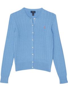Mini-Cable Cotton Cardigan (Big Kids) Ralph Lauren