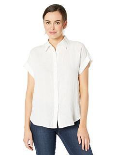 Льняная рубашка с рукавами «летучая мышь» Ralph Lauren