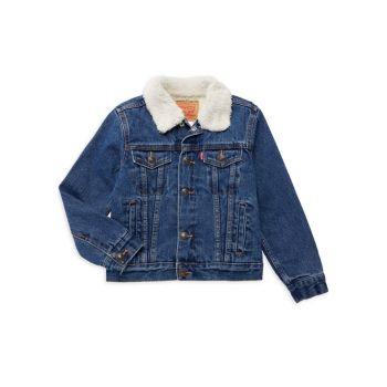 Джинсовая ткань Little Boy & amp; Куртка Trucker из искусственной овчины Levi's®