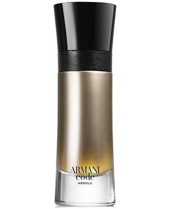 Armani Code Absolu Eau de Parfum Spray, 2 унции Giorgio Armani