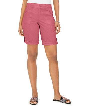 Roll-Tab шорты-бермуды, созданные для Macy's Style & Co