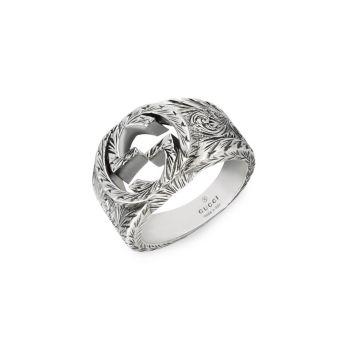 Серебряное кольцо Interlocking G GUCCI