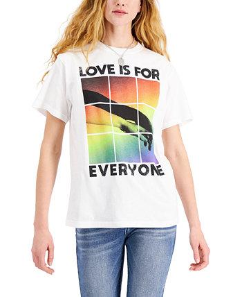 """Хлопковая футболка с графическим принтом """"Любовь для всех"""" для юниоров Mad Engine"""